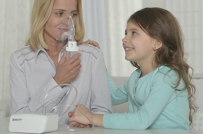 использование маски в небулайзерах B.Well, фото
