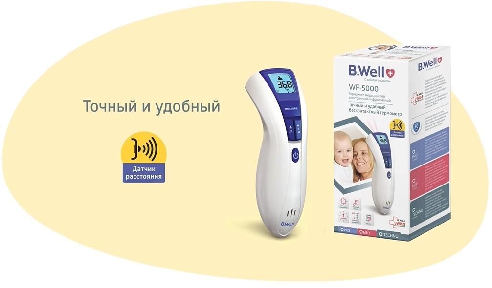 медицинский инфракрасный бесконтактный термометр WF-5000 фото